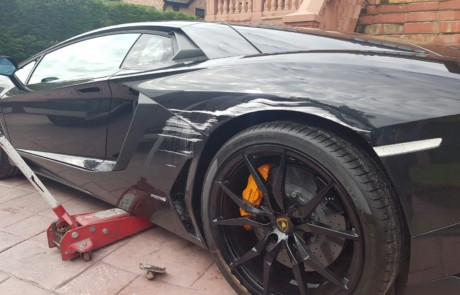 lamborghini aventador dented - smart repair